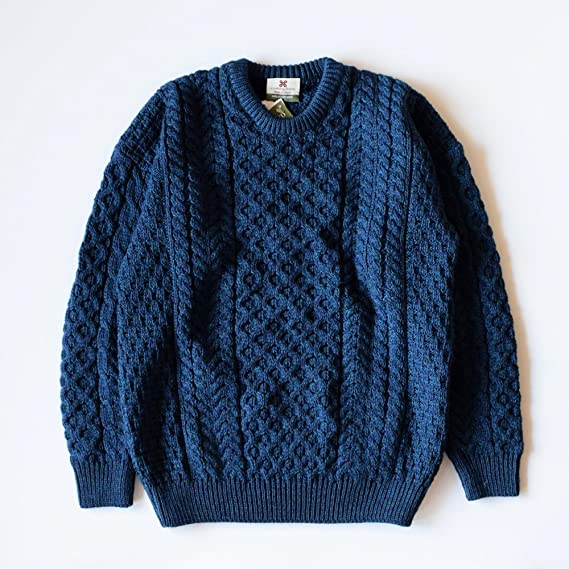 Men's Vintage Sweaters – 1920s to 1960s Retro Jumpers Carraig Donn Mens Irish Traditional Aran Merino Wool Pullover Sweater $96.95 AT vintagedancer.com