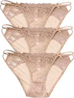 6af330c6411 Camelia High End Lace String Georgette Bikini Panties for Summer, USA Size:  XS-
