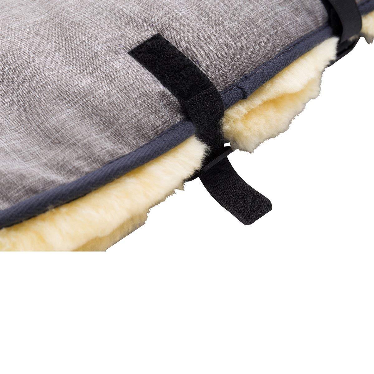 babycab Handw/ärmer Lammfell f/ür Kinderwagen inkl Aufbewahrungstasche mit Druckkn/öpfen wasser- /& windabweisender Muff mit Reflektoren