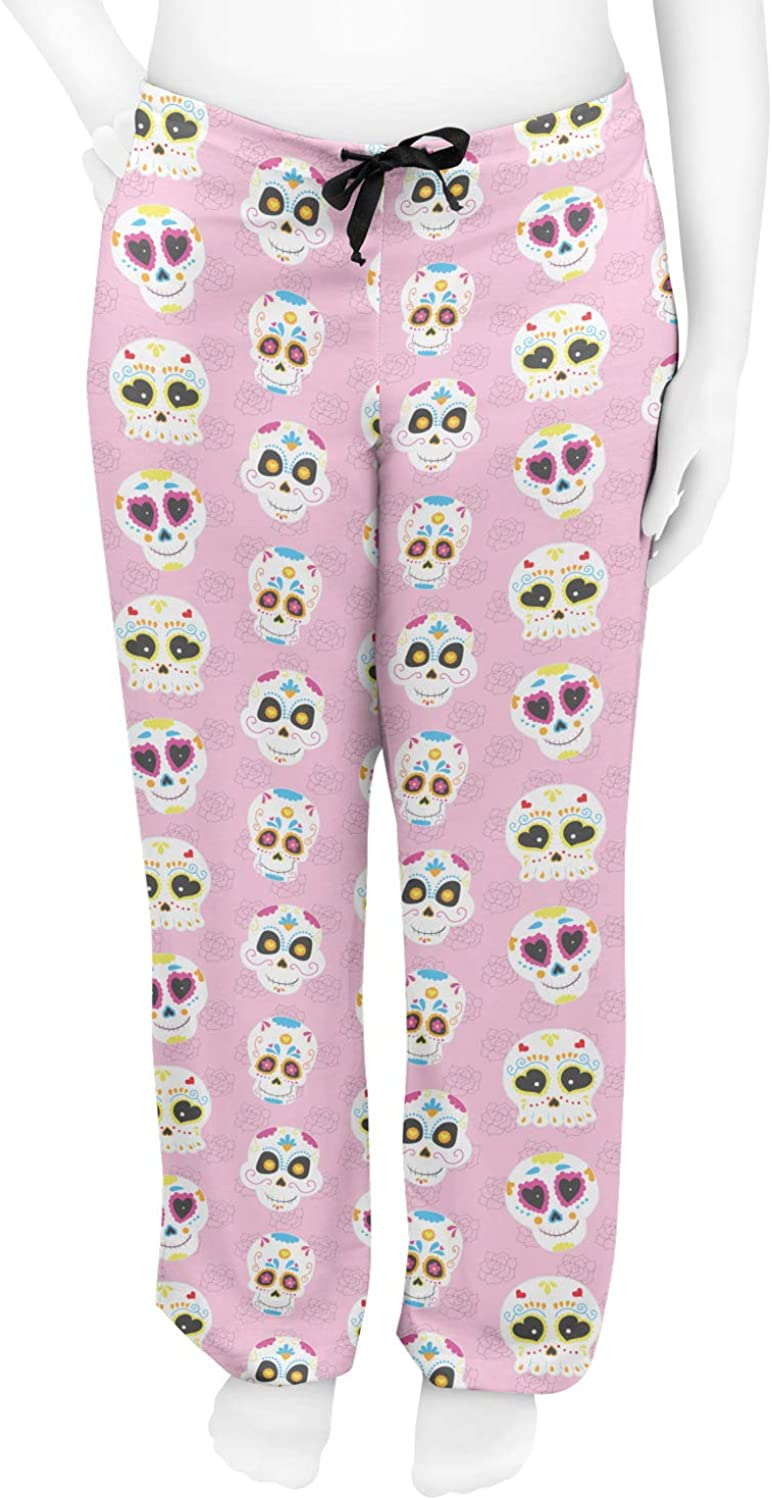 Pink XS Kids Sugar Skulls Mens Pajama Pants Personalized