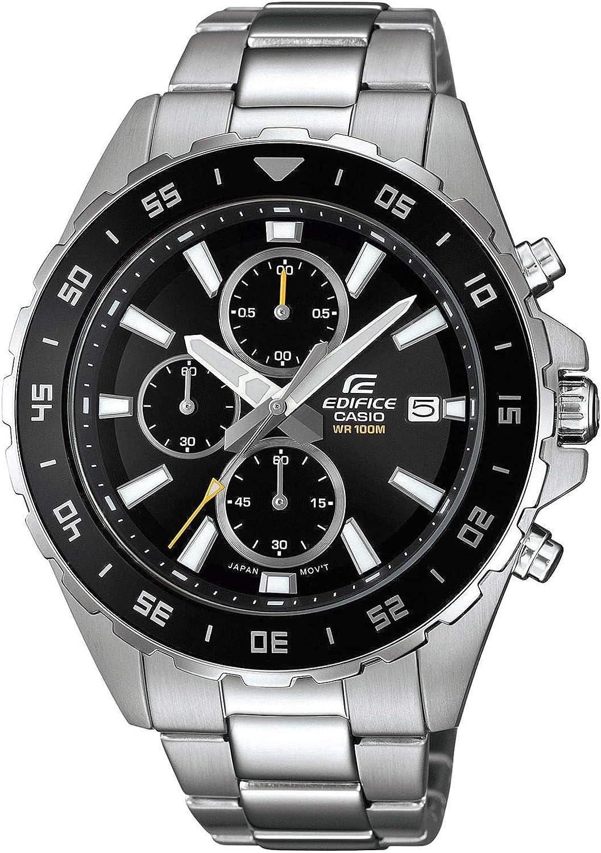 Casio Reloj Analógico para Hombre de Cuarzo con Correa en Acero Inoxidable EFR-568D-1AVUEF