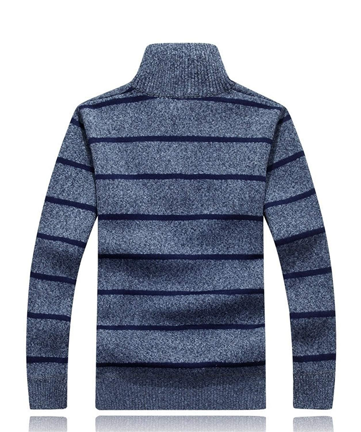 40798669d Nelliewins 2019 New Pullover Sweaters Autumn New Men s Striped Sweatercoat  Pullovers Male Winter Wigeo Thick Sweaters Coat Stand Collar Slim Fit  Knitted ...
