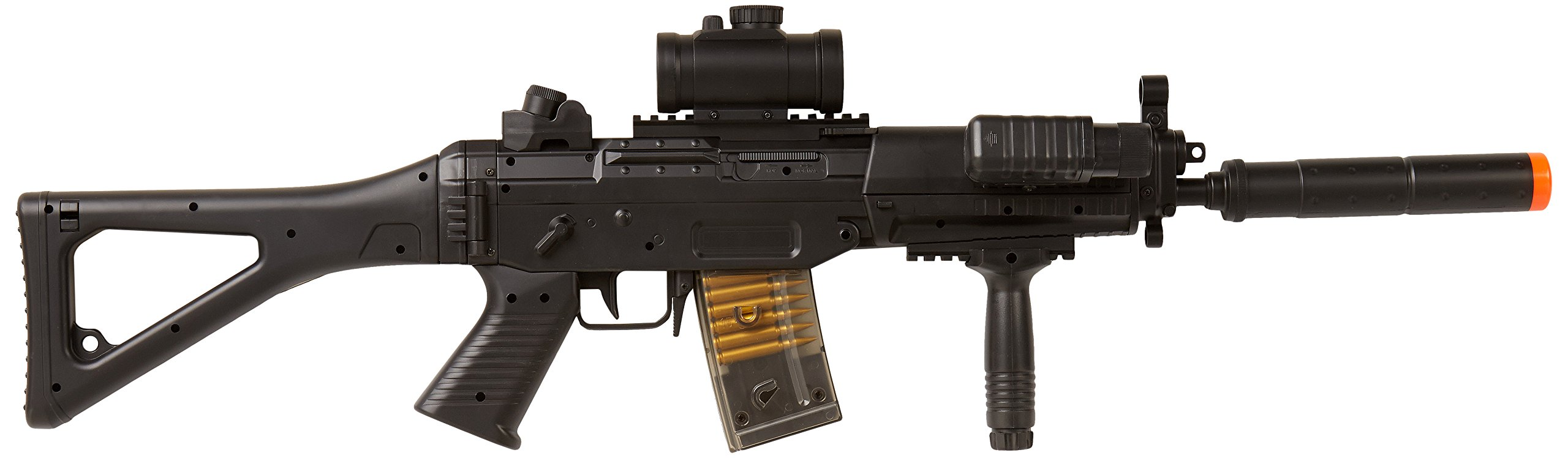 BBTac BT-M82 Airsoft Electric Gun Assault Rifle Fully Loaded AEG Automatic & Semi Full size, Black
