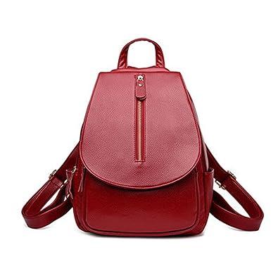 Amazon.com: Tyler Morrison Pu Leather Backpack School Bags For Teenage Girls Travel Bag Mochilas Escolar Vintage Backpacks Red: Shoes