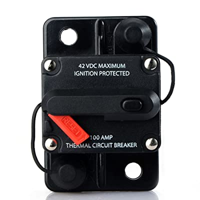 200 Amp Waterproof Car Auto Circuit Breaker Fuse Trolling with Manual Reset 12V-42V DC: Automotive