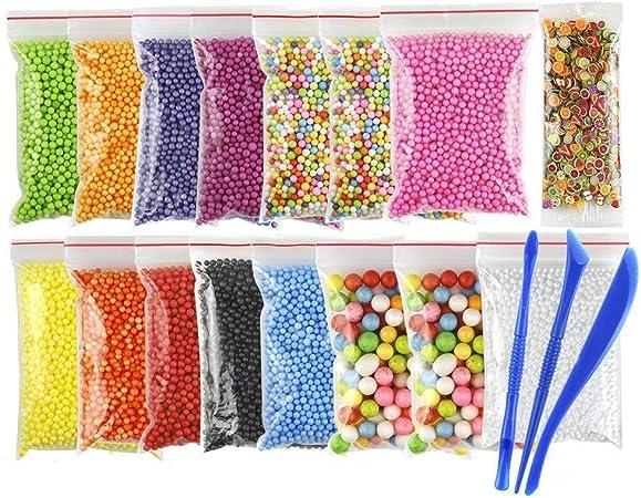 Rigel7 Bolas de espuma de poliestireno de colores para rellenar cajas de regalo, manualidades, rellenar muñecas, decoración, material hecho a mano, suministros escolares, etc.: Amazon.es: Oficina y papelería