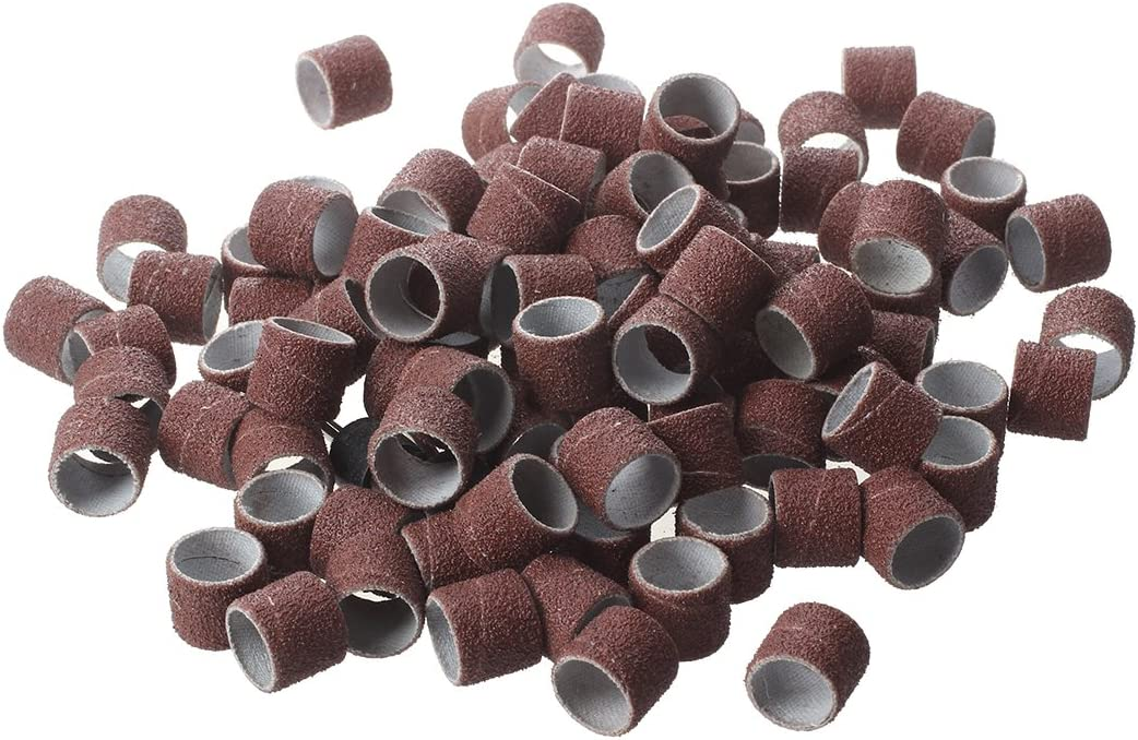 1//2 Senmubery 100 pezzi Kit di nastri abrasivi con 2 mandrini per utensili rotanti