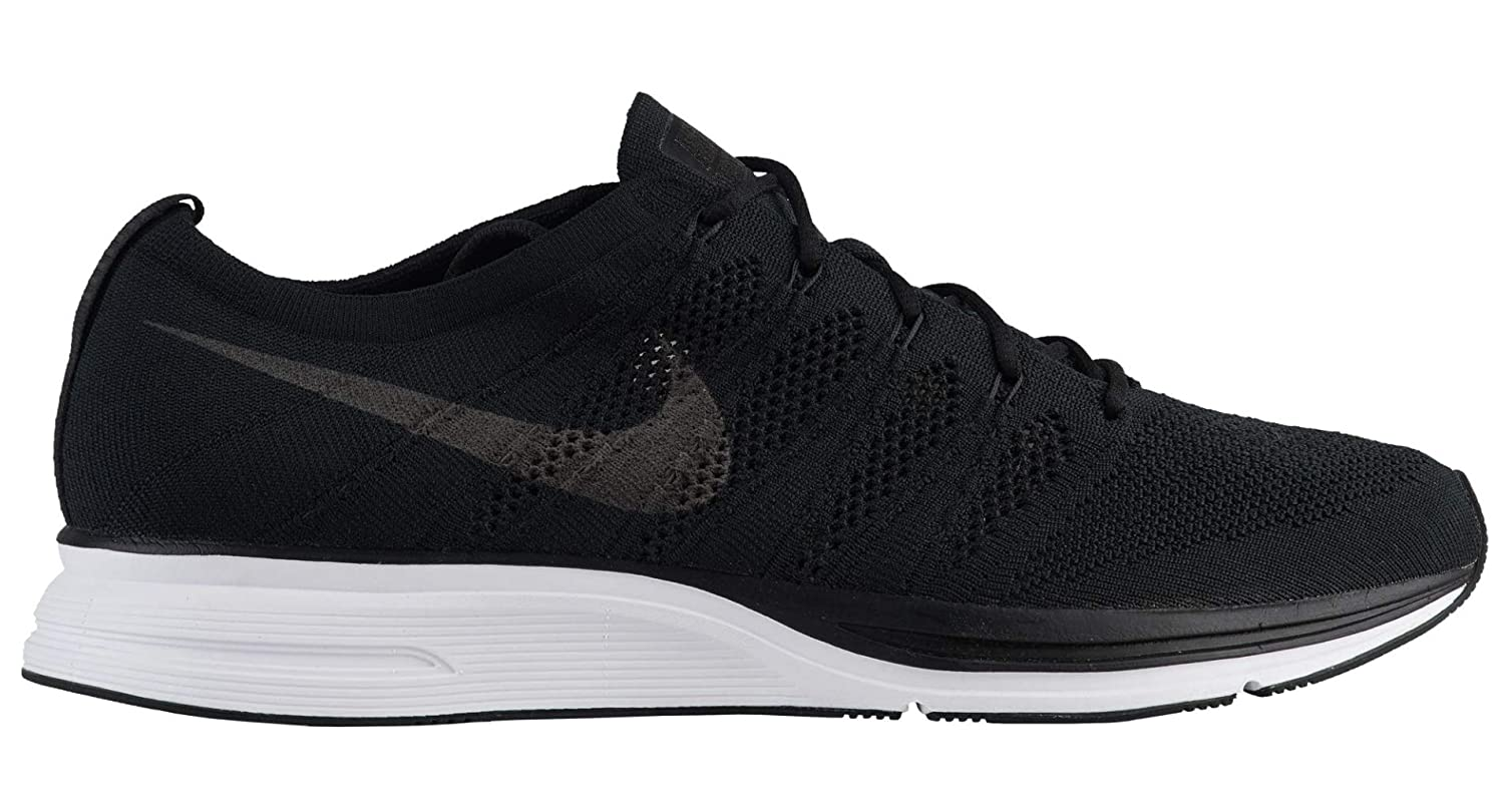 new arrivals 42b03 e0a2b Amazon.com   Nike Flyknit Trainer Mens Ah8396-007 Size 7 Black Black-White    Shoes