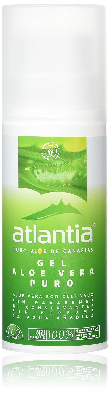 Atlantia Aloe Vera, Gel de Aloe Vera orgánico puro, sin aditivos ni conservantes, 200ml: Amazon.es: Belleza