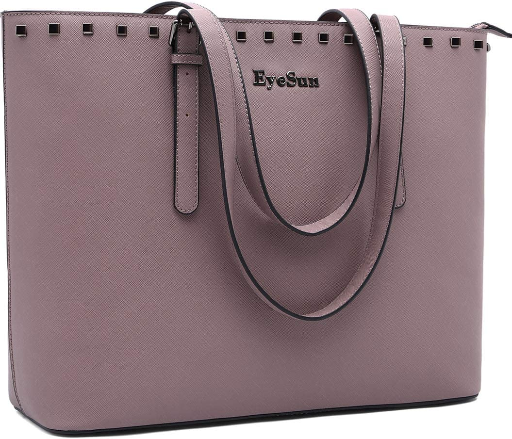 Laptop Bag for Women,15.6 Inch Laptop Tote Bag Office Briefcase with Adjustable Strap by EyeSun