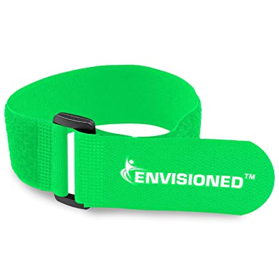"Reusable Cinch Straps 2"" x 72"" - 2 Pack - Hook and Loop Straps (Neon Green): Industrial & Scientific"