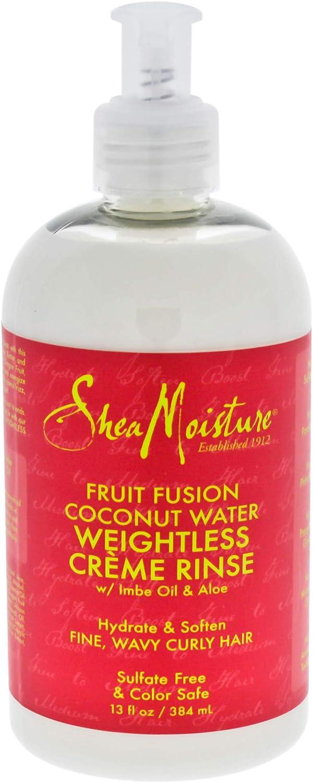 Shea Moisture Fruit Fusion Coconut Water Crema para pelo fino/medio, 384 ml