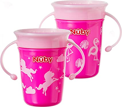 Nuby 360 Degree No Spill Cup Pack of 2 Mini