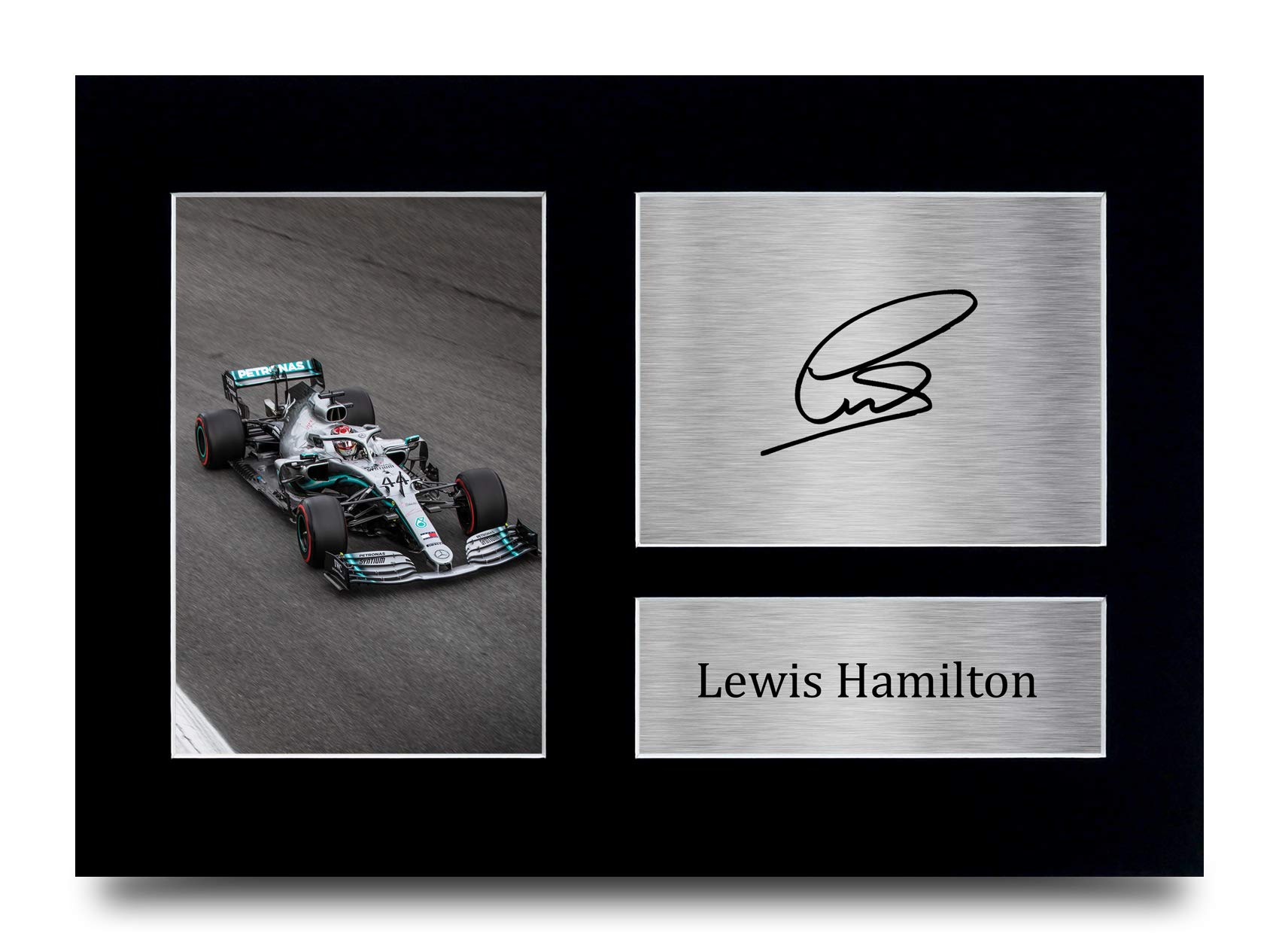 HWC Trading Lewis Hamilton Signed A4 Printed Autograph Mercedes F1 Print Photo Picture Display