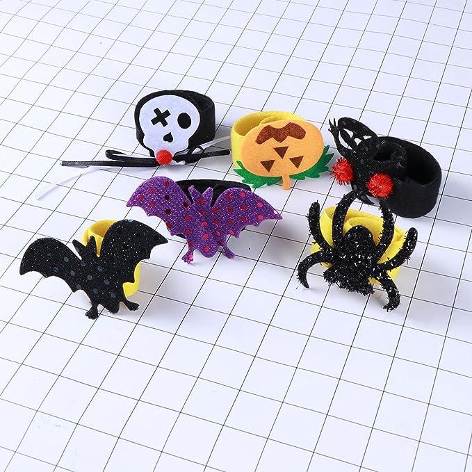 BESTOYARD Halloween Fingerringe Spinne Tiere Sch/ädel f/ür Party 12 St/ücke