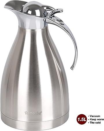 Jarra Térmica Jarra para Café Termo Aislamiento, Homecube Jarra de Agua Pote del Café Pot Hervidor