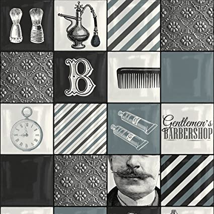 Muriva 578101 Barbershop Wallpaper Multi Colour Set Of 12 Pieces