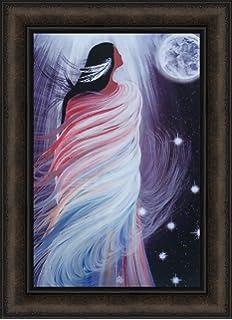 INNER VISION by Betty Albert 16x22 FRAMED PRINT Native American Woman Mandala