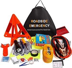 RoadsideAdakiit Car Emergency Kit, Multifunctional Roadside Assistance Auto Safety Kit