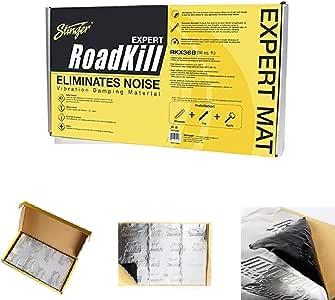 Stinger RKX36B Roadkill Expert Series Sound Damping Material Bulk Pack (Silver)