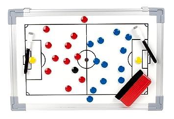 b+d pizarra táctica magnética de fútbol incl. imanes (45 x 30 cm)