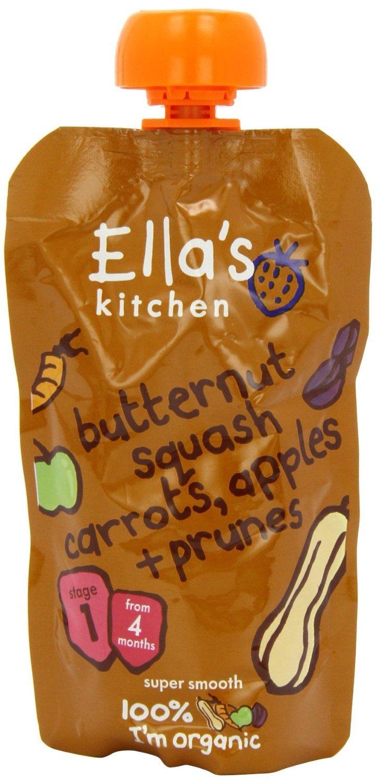 Ella'S Kitchen Butternut Squash Carrots, Apples + Prunes 120G - Pack of 2 Ella' s Kitchen