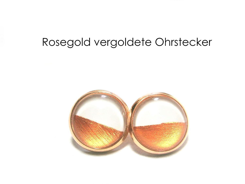 Ohrstecker Ros/égold Ohrringe Schmuck vergoldet