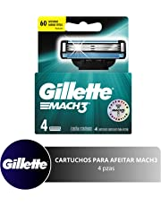 Gillette Mach3 Cartuchos Para Afeitar 4 Unidades