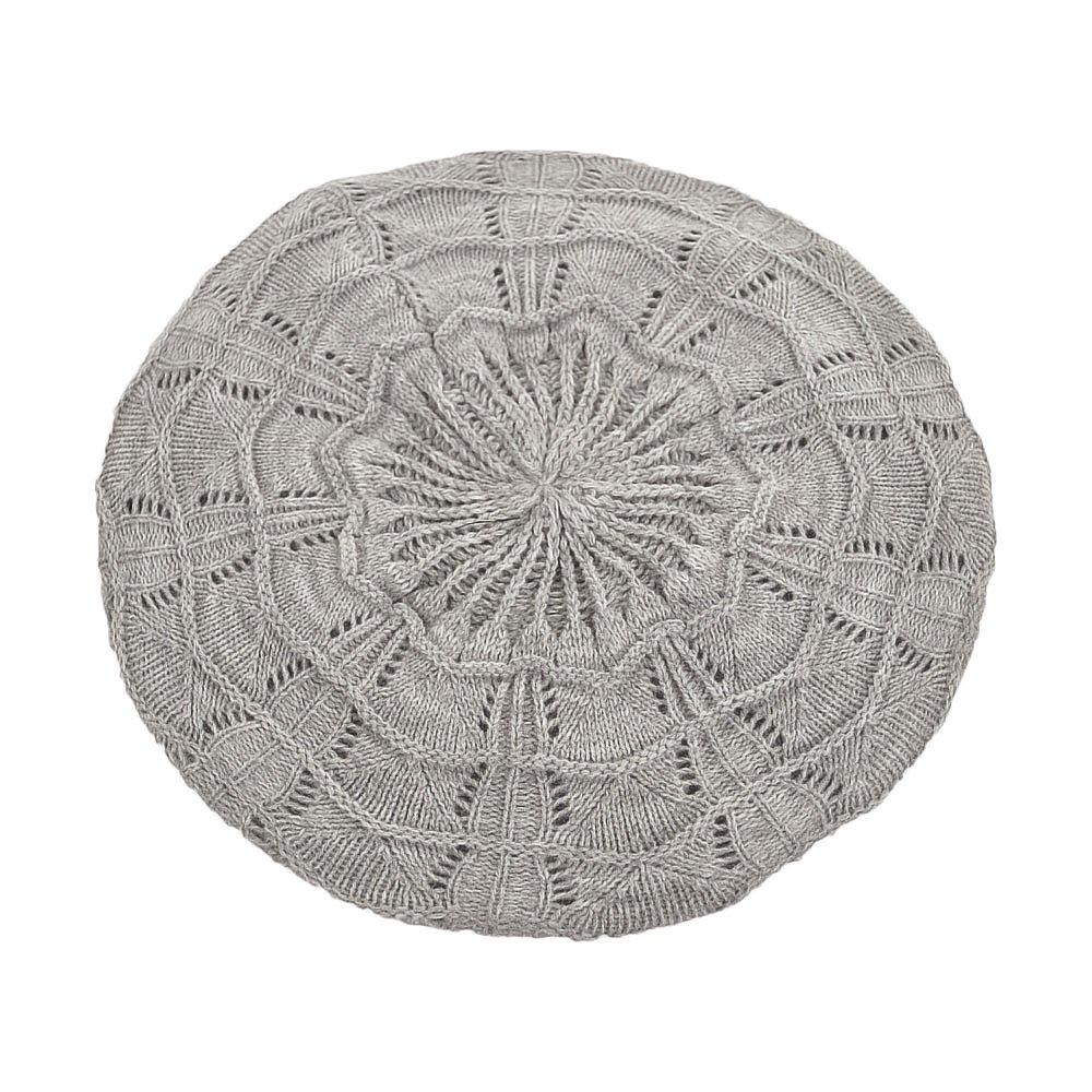Village Hats Béret Tricoté gris clair SUR LA TETE - Taille unique   Amazon.fr  Vêtements et accessoires 0a8fdc8727d