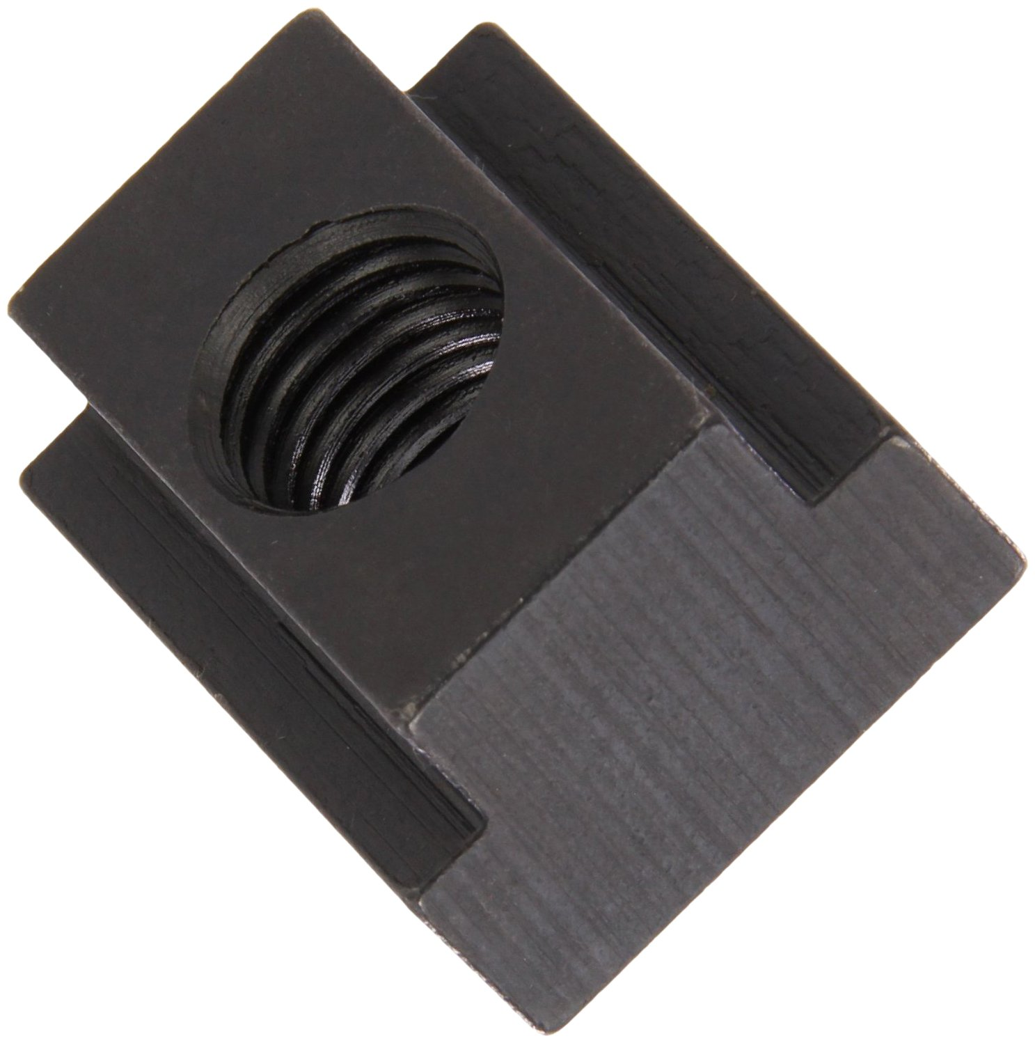 1018 Steel T-Slot Nut, Black Oxide Finish, Grade 6, 1/2''-13 Threads, 3/4'' Height, 3/4'' Slot Depth, Made in US (Pack of 5)