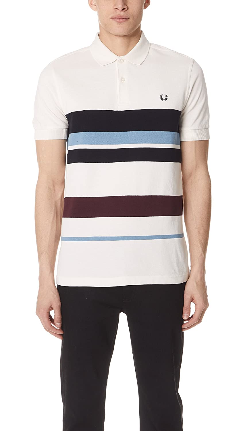 Fred Perry Multi Stripe Pique Polo Light Ecru: Amazon.es: Ropa y ...