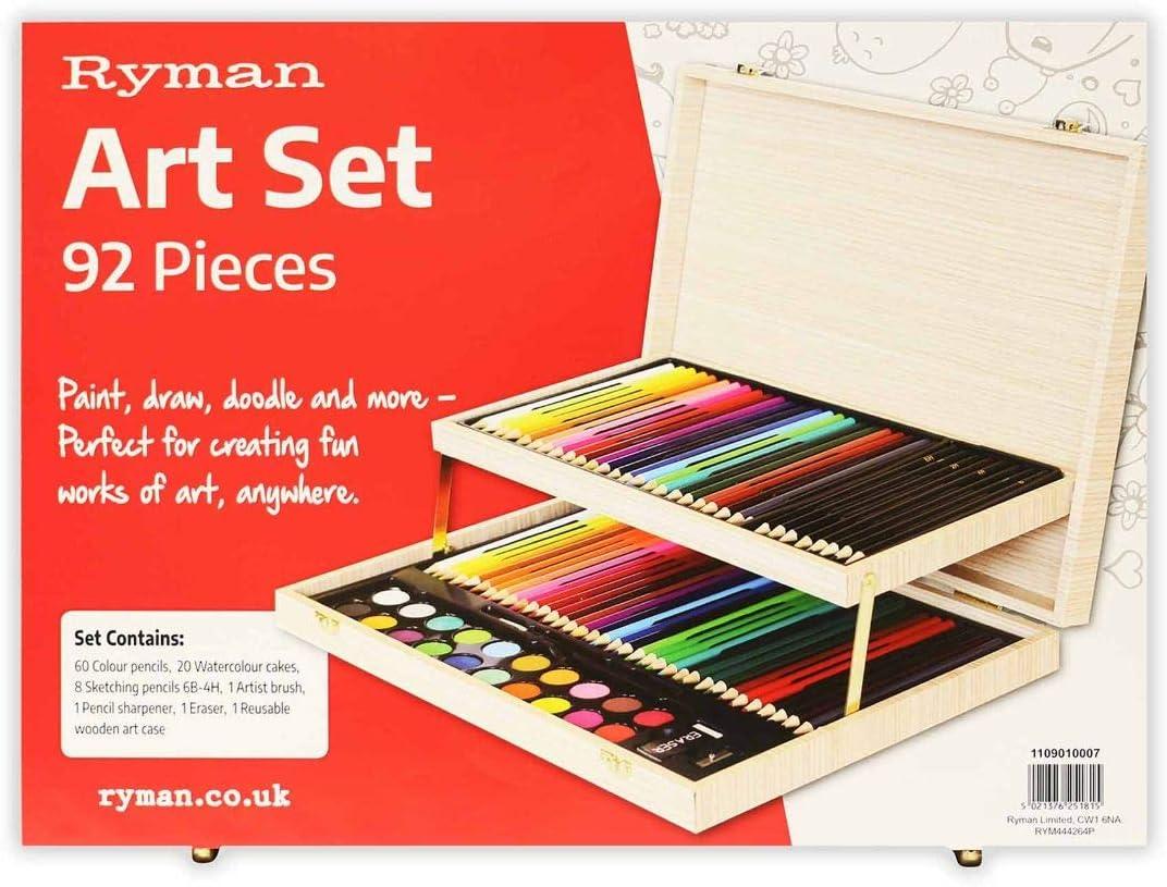92 piece Ryman Premium Art Sets