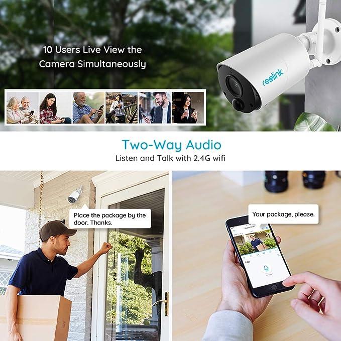 Amazon.com: REOLINK - Sistema de cámara de seguridad solar ...
