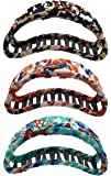 Fashion & Lifestyle 3 Pack 4-inch Large Hair Claws Jaw Clips for Women and Girls - Pretty Strong Clamp Non-Slip Barrettes Hair Updo Grips Bath Accessories for Thick Hair