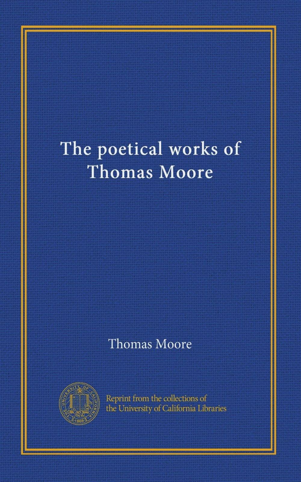 Read Online The poetical works of Thomas Moore pdf epub