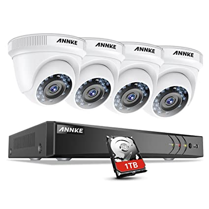 91691bb7a174 ANNKE New Upgraded 1080P Security System 4CH H.264+DVR Recorder with 1TB  Surveillance