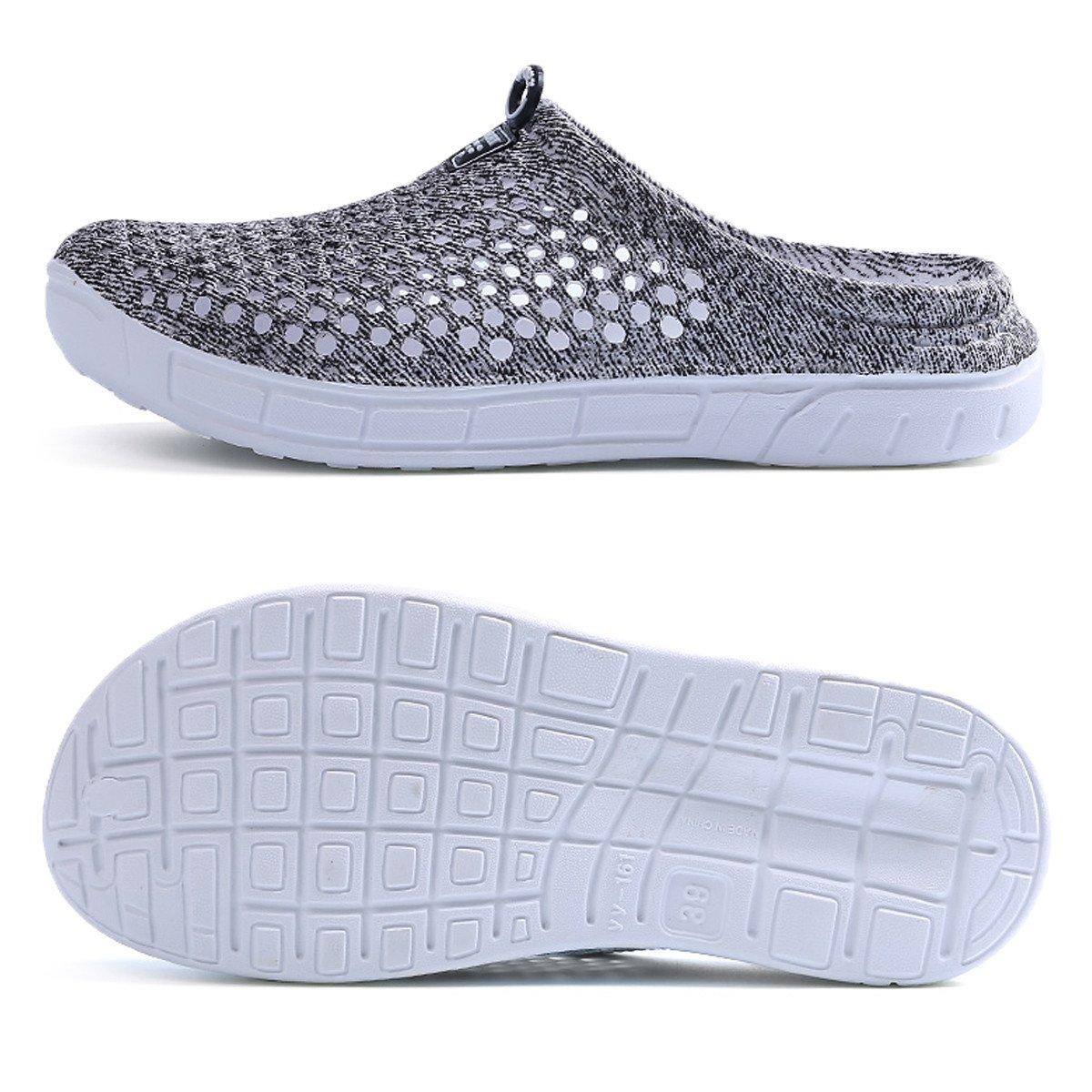 Ginjang Women's Garden Clogs Shoes Slip-on Slippers Sandals(38/Gray) by Ginjang (Image #2)