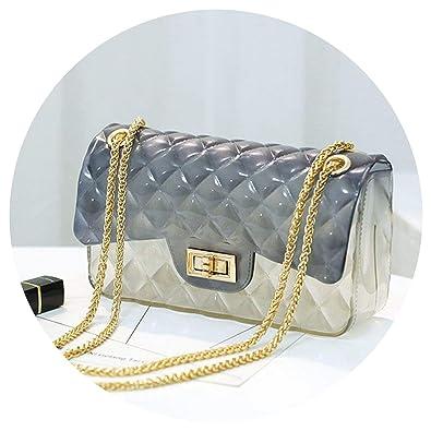 on women Brand Designer chain shoulder bag transparent ...