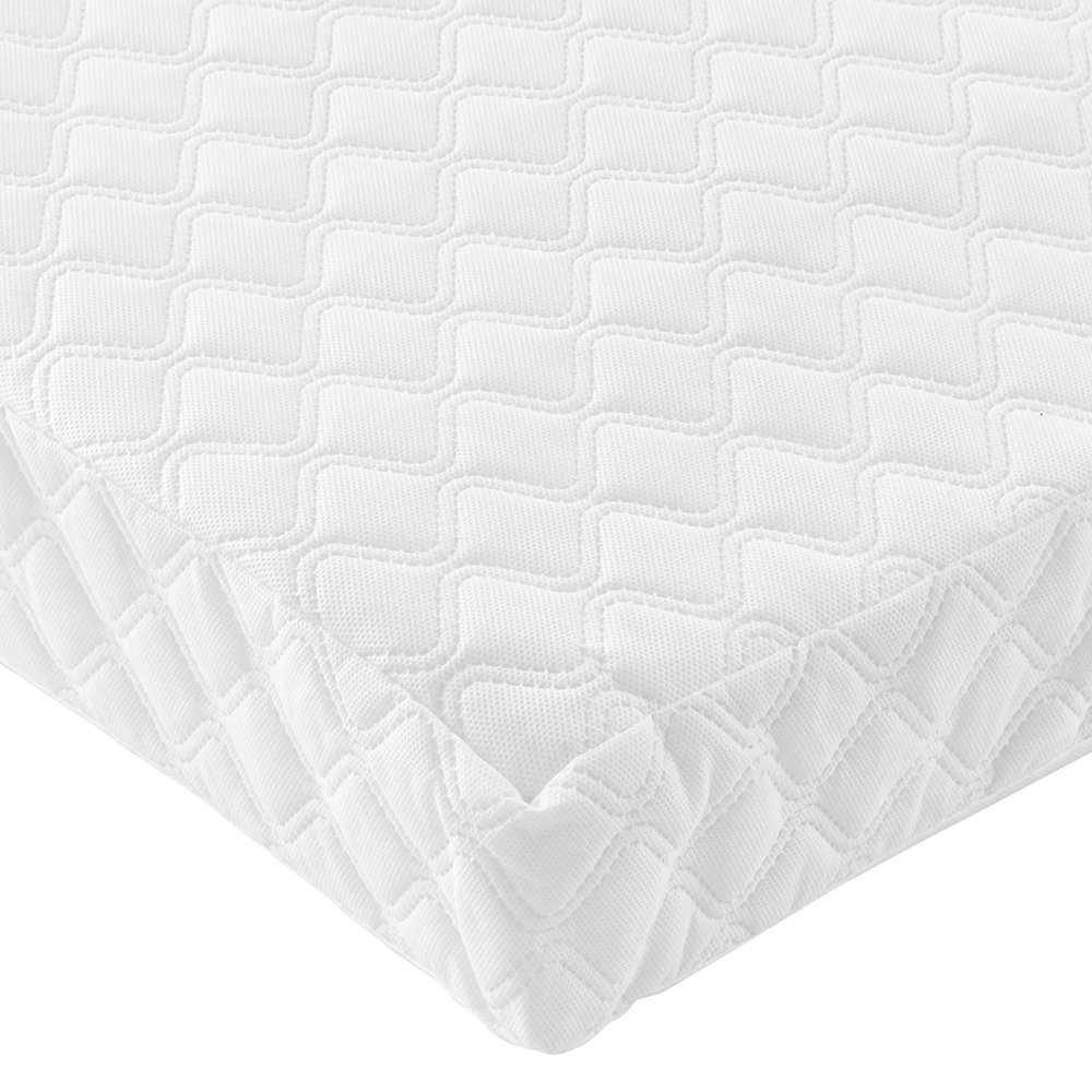 Deluxe Cotbed Mattress 69 / 70cm x 139 / 140cm Spring Standard Cotbed Size 10cm Thick V and M
