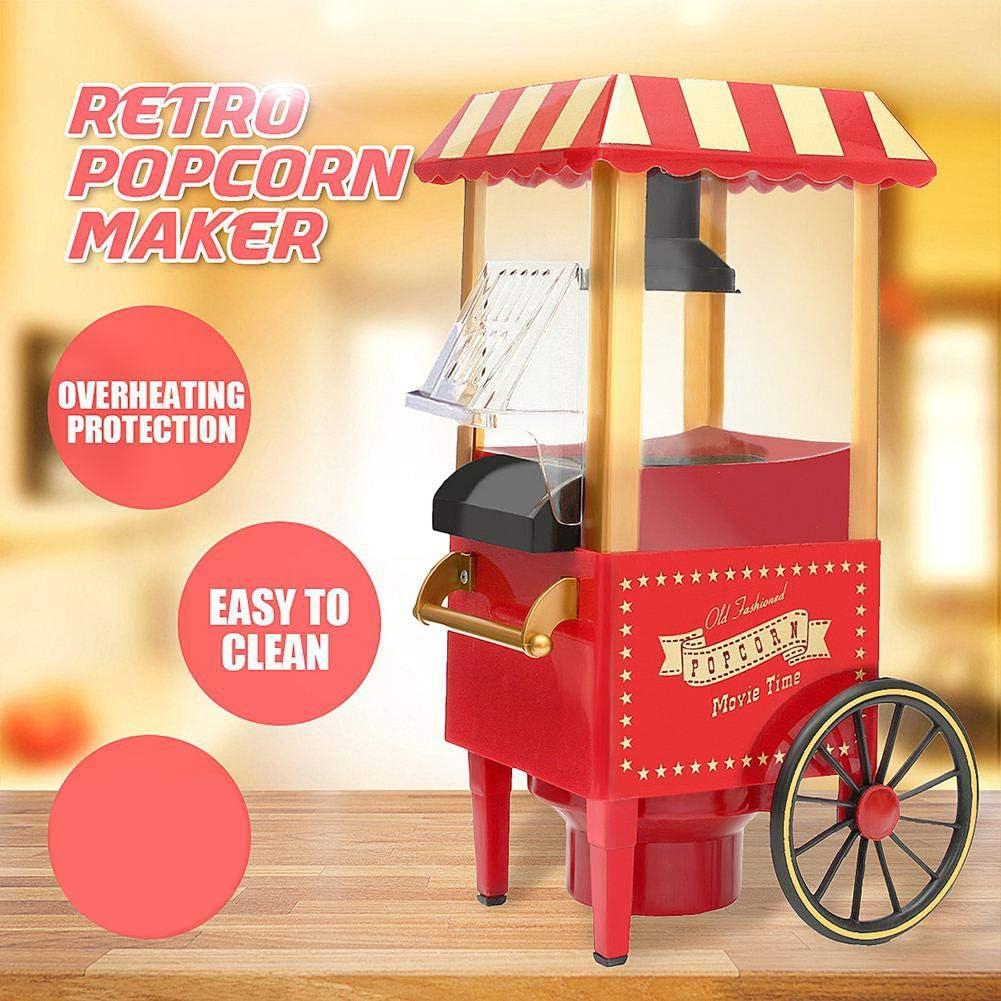 LKSIING Popcorn Machine Retro Palomitero Pop Corn Maker Aire Caliente Sin Grasa Aceita Retro Máquina Fácilmente Hacer: Amazon.es: Deportes y aire libre