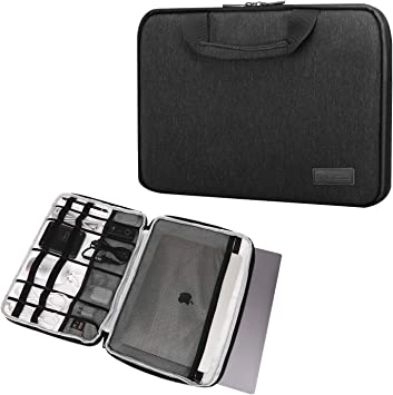 MoKo Compatible con 15-15.6 Inch Laptop Funda, Funda de Manga Asa Electrónicos Bolsa Protectora Cover para 15