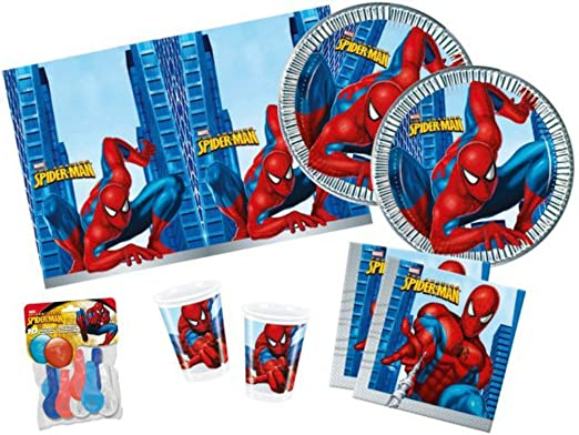 CAPRILO Lote de 1 Sets Cubiertos Spiderman (10 Vasos, 10 ...