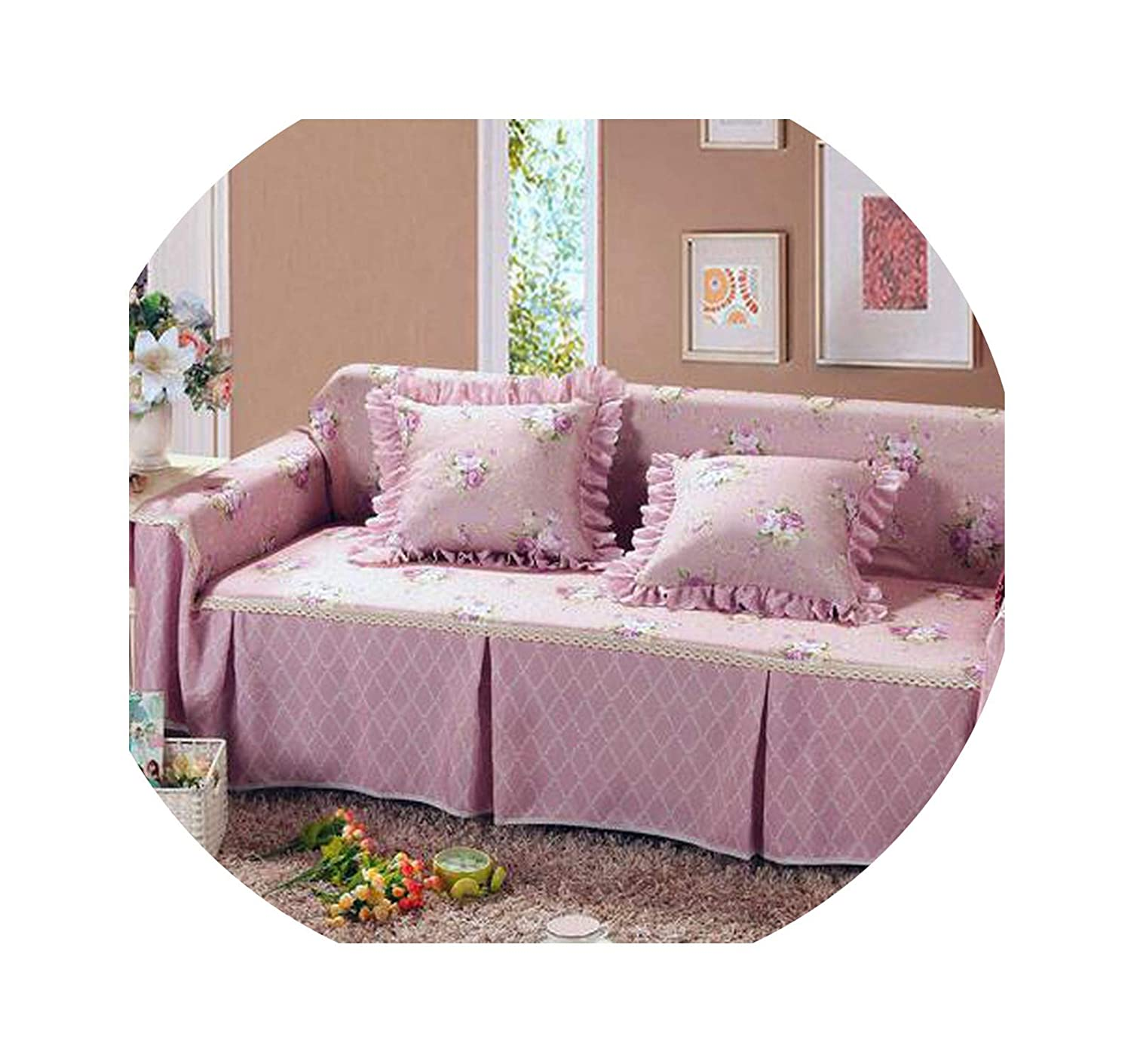 Love & Freedome Thicker Cover Sofa Towels for Couch Sofa Pastoral Slipcover capa de Sofa Covers Polyester Use Single/Double/Three/Four,Sofa Cover 2,90x90cm Tablecloth