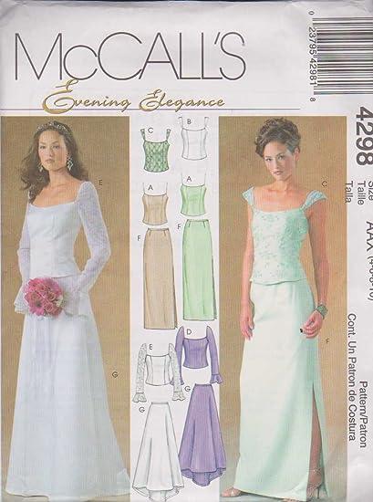 McCalls 4298 - Patrones de Costura para Camisas y Faldas con ...
