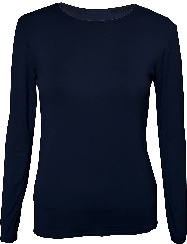 Kids Plain Basic Top Long Sleeve Girls Boys Uniform T-Shirt Tops UK 2-13 Years
