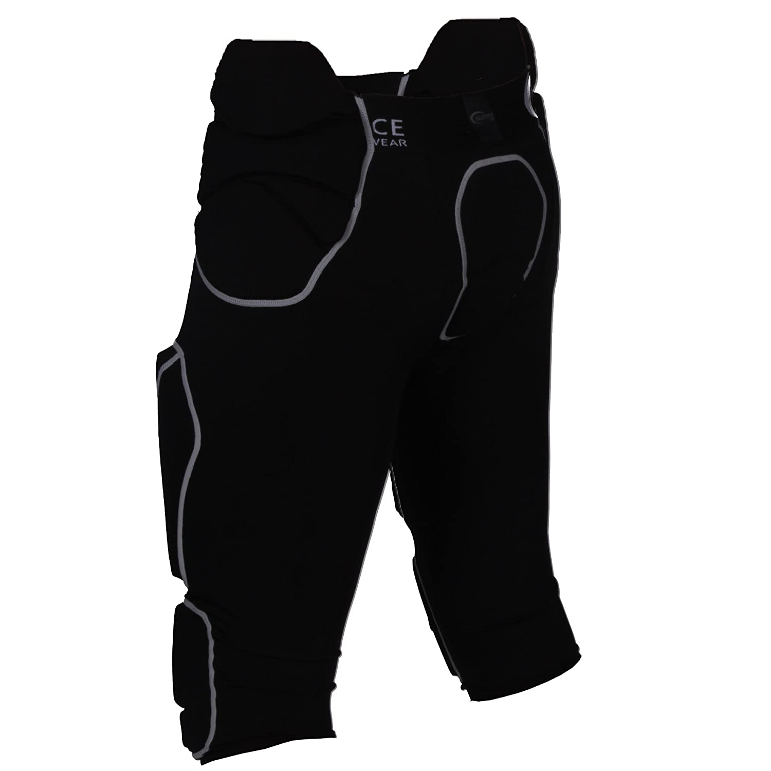Full Force American Football Mens Trousers with 7/Pockets and 7/Sewn-In Pads black Size S-XXXL