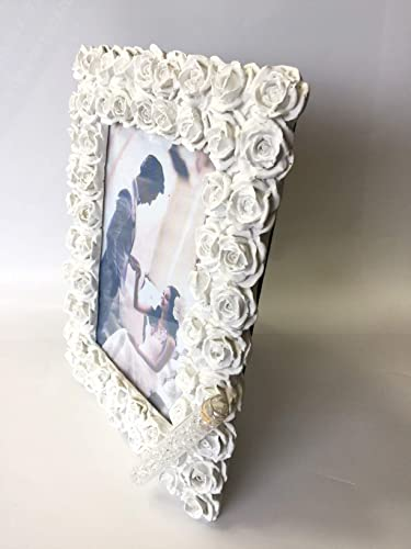 Amazon.com: Jewish Wedding White Roses Photo Picture Frame With a ...
