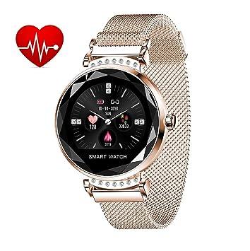 Amazon.com: Fitness Tracker reloj para mujer, presión ...