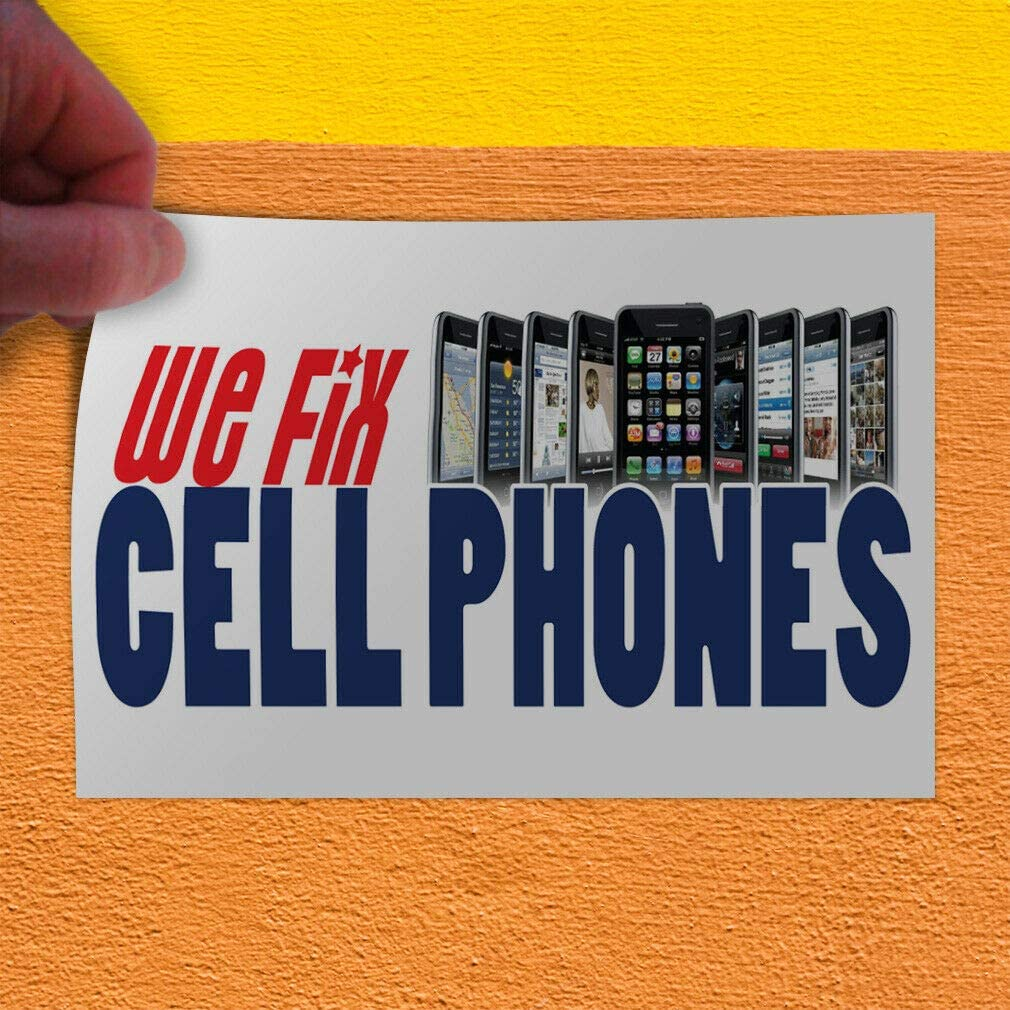 Decal Sticker We Fix Cell Phones Business Retail We Fix Cell Phones Store Sign-36inx24in