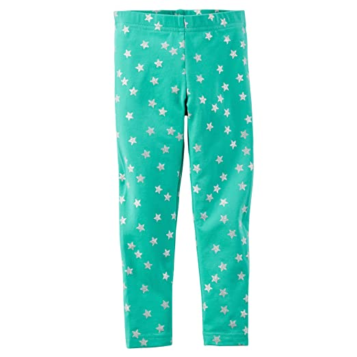 41a70659e276a1 Amazon.com: Carter's Little Girls Printed Leggings(2t, Mint Star ...